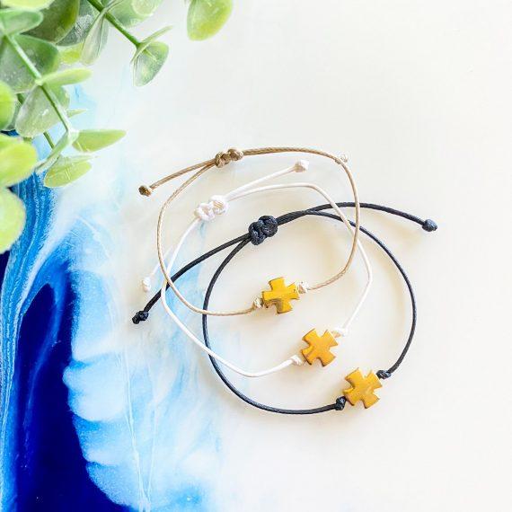 Adjustable Gold Cross Bracelet