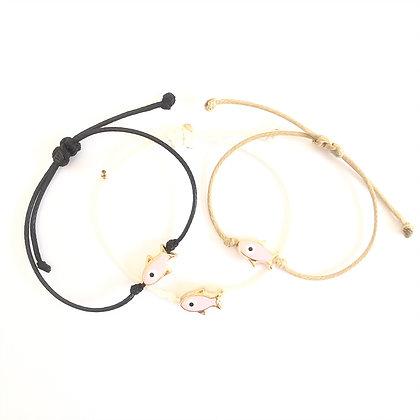 Adjustable Pink Fish Bracelet1