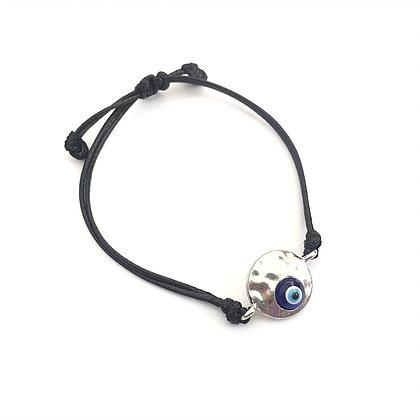 0f9398ee06958a ... Adjustable Silver & Blue Evil Eye Bracelet