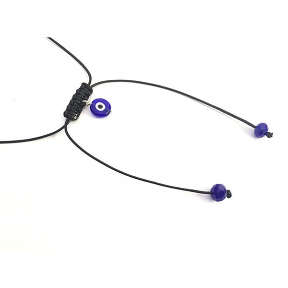 Dark Blue Glass Evil Eye Choker