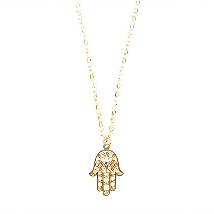 Detailed Hamsa Necklace1