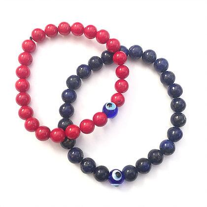 Marble Glass Evil Eye Bracelet1
