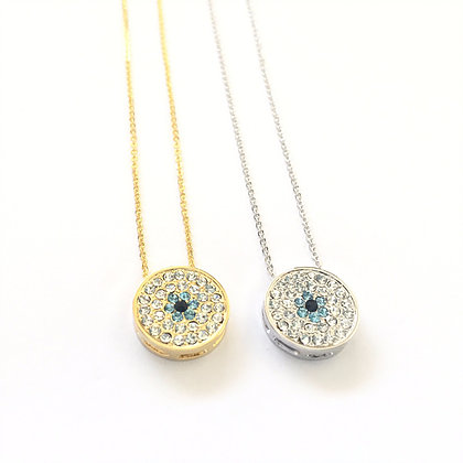 Studded Evil Eye Necklace (L)1