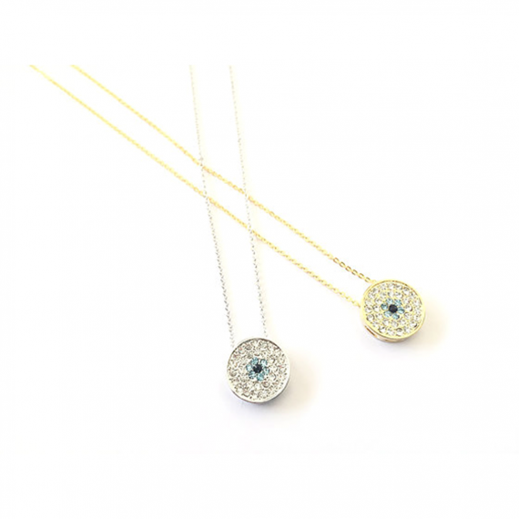Studded Evil Eye Necklace (L)