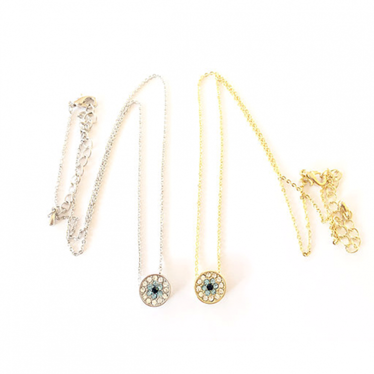 Studded Evil Eye Necklace (S)