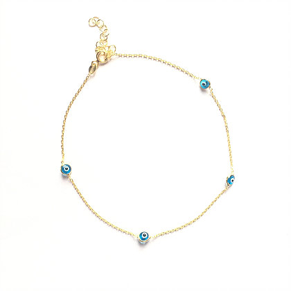 Trio Evil Eye Anklet