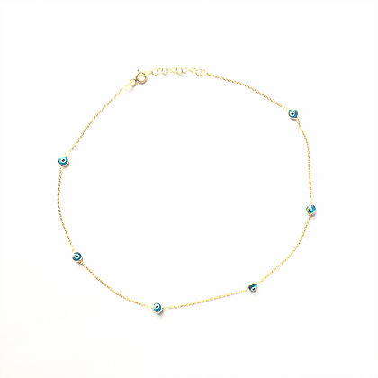 Trio Evil Eye Choker