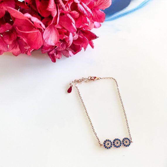 Trio Rose Gold Bracelet