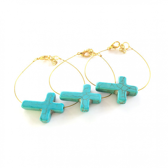 Turquoise Long Cross 1