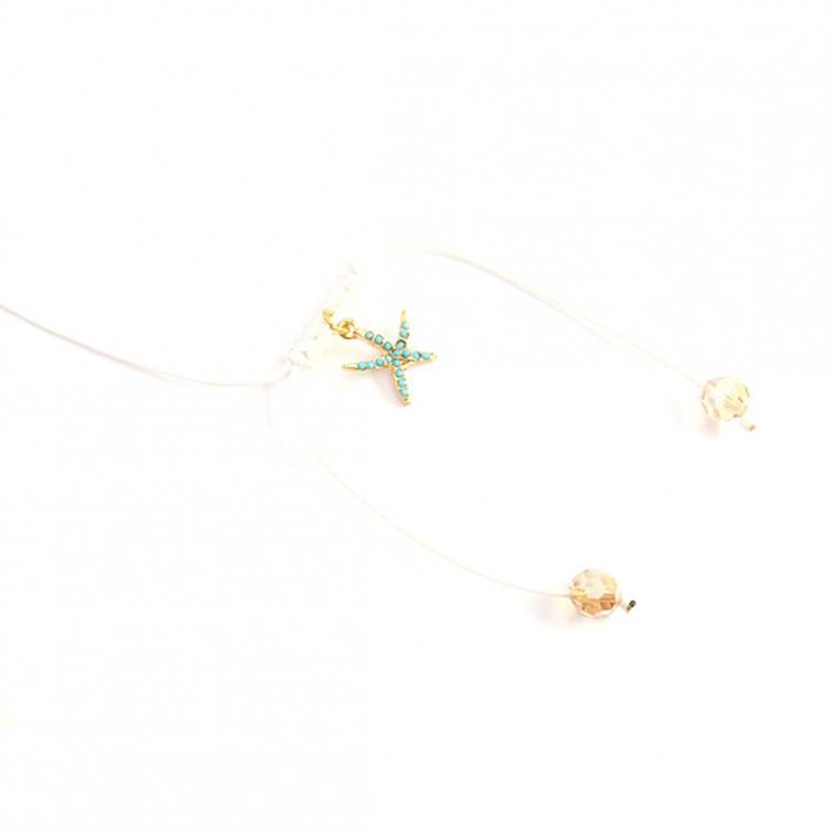 Turquoise Starfish Choker