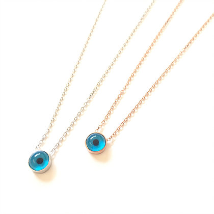 Water Drop Evil Eye Necklace1