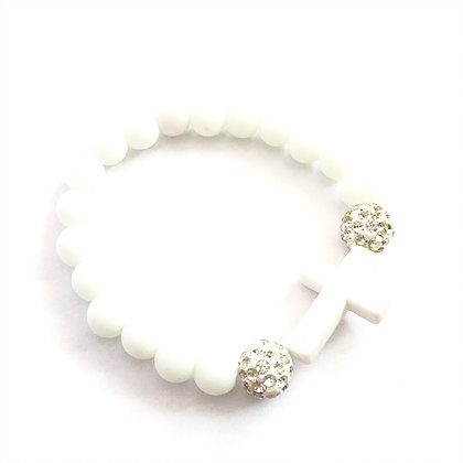 White Cross & Diamante Balls1