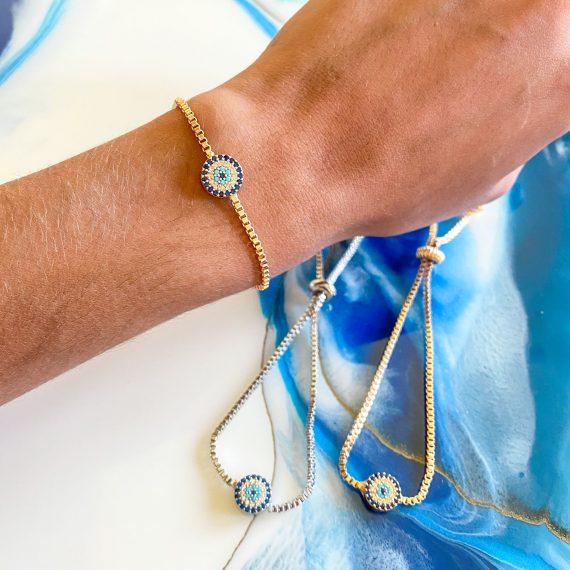 Adjustable Evil Eye Bracelet 2