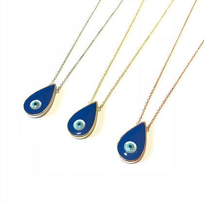 Blue Teardrop Necklace1