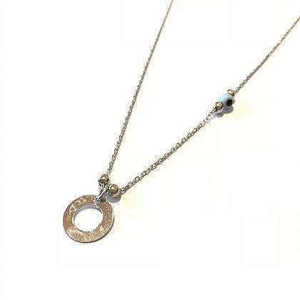 Circle & Eye Necklace