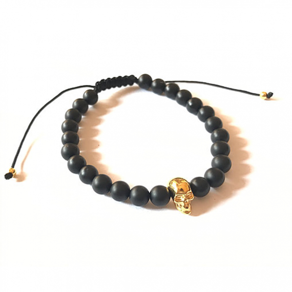 Gold Skull Adjustable Bracelet