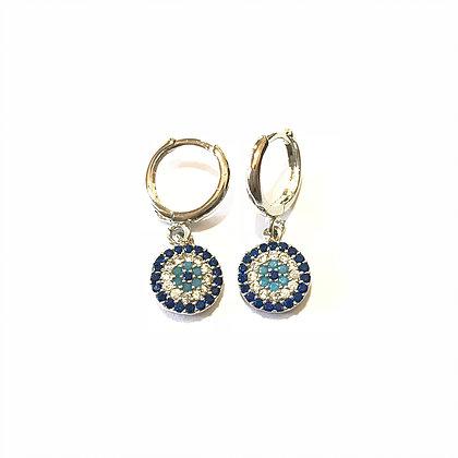 Hanging Circular Mati Earrings