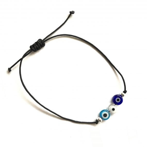 Trio Glass Eye Bracelet