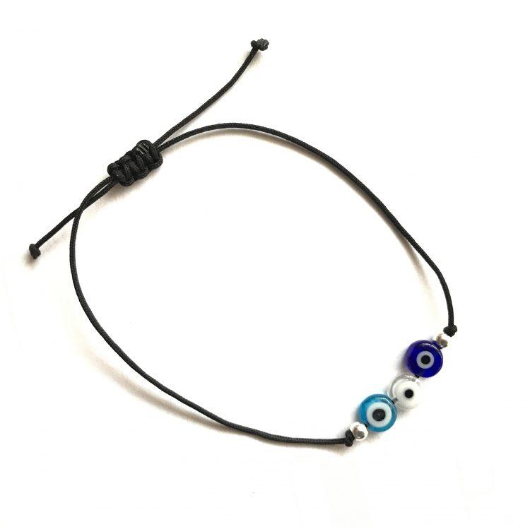 Trio Glass Eye Bracelet