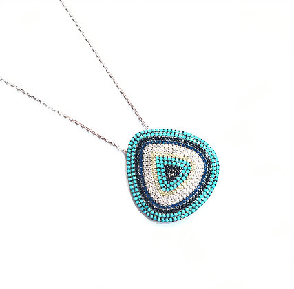 Large Triangular Eye Necklace