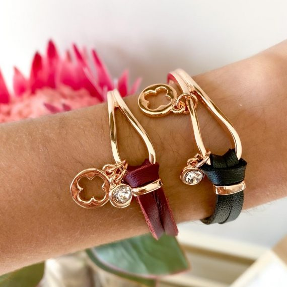 Leather & Hook Bracelet