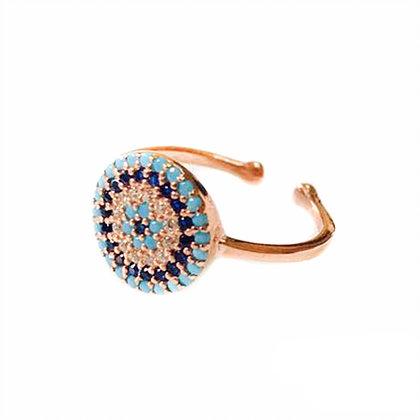Petite Nano Turquoise Mati Ring