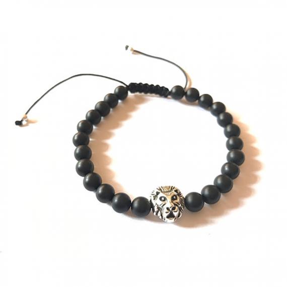Silver Lion Adjustable Bracelet