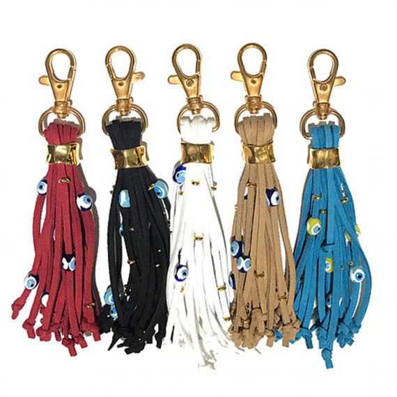 Tassel Eye Gold Keyring1