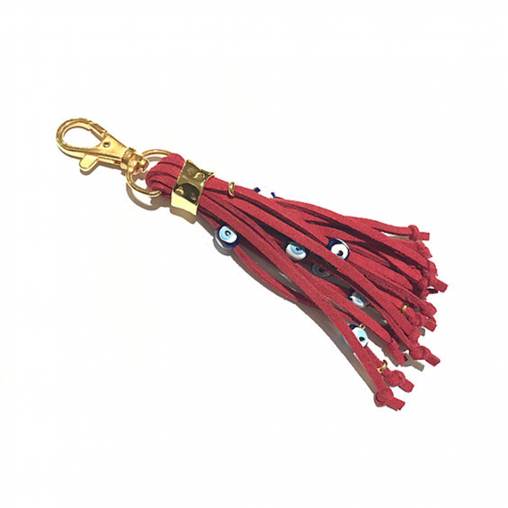 Tassel Eye Gold Keyring