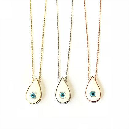 White Teardrop Necklace1