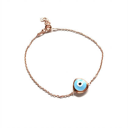 Enamel Evil Eye Bracelet