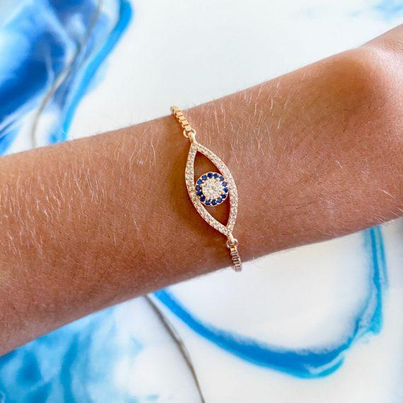 Rose Gold Mati Adjustable Bracelet