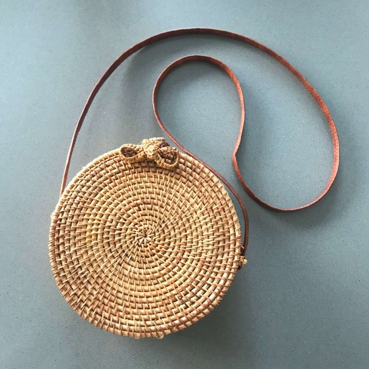 Natural Round Bamboo Bag – 20cm