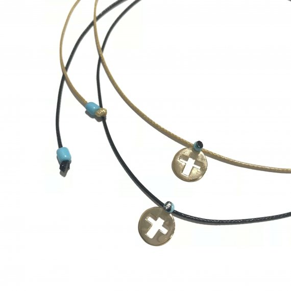 Adjustable Cut Out Cross Choker