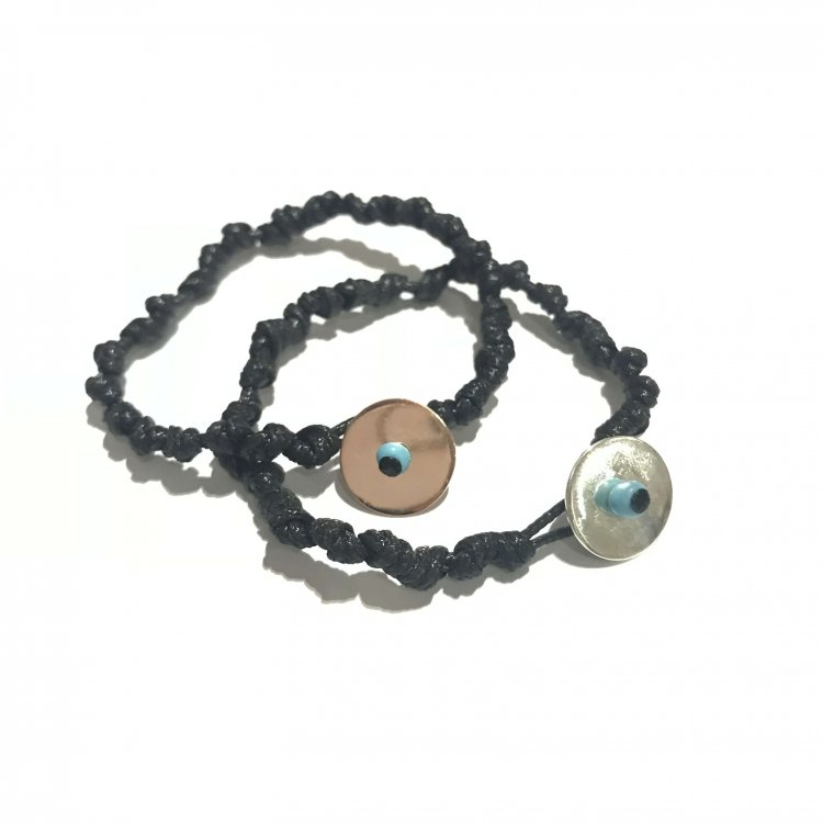 Knotted Disk Bracelet