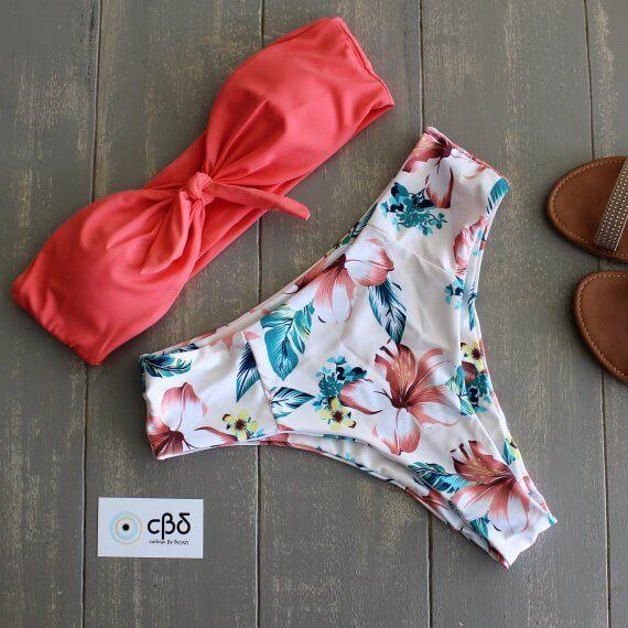 Watermelon Bandeau Bikini