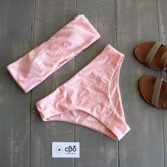 Pink Bandeau Bikini – Small