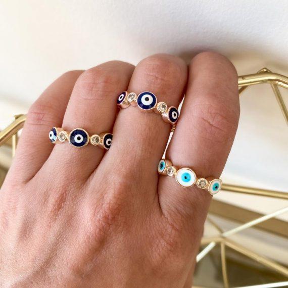 Diamante Eye Ring