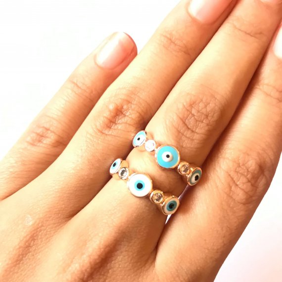 Diamante Eyes Ring