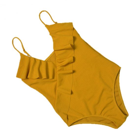 Mustard Frill One Piece