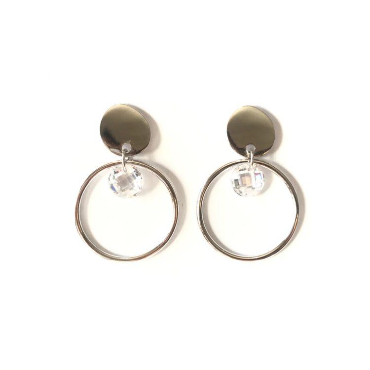 Crystal Loop Earrings