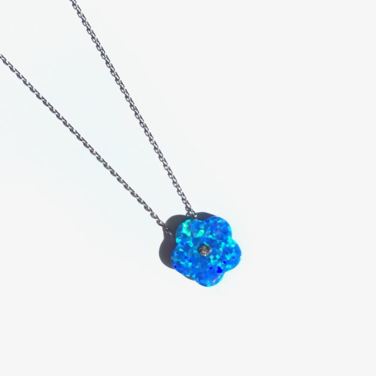 Opal Flower Necklace