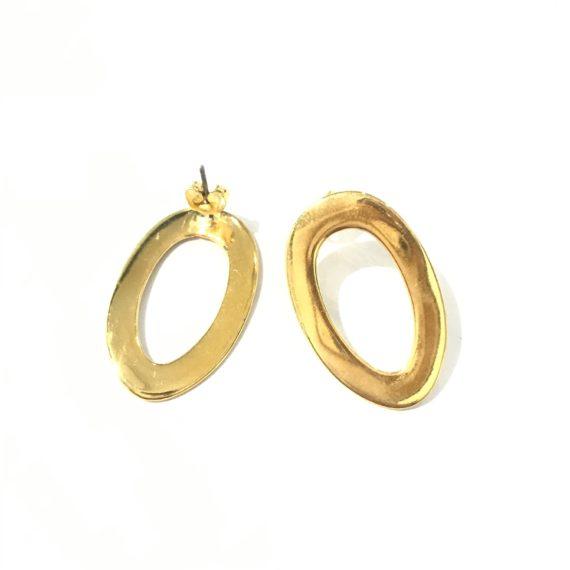 Long Oval Earrings
