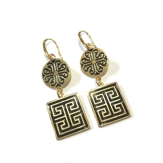 Meander Earrings – Black