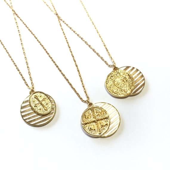 Double Disk Necklace