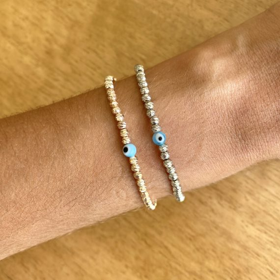 Delicate Evil Eye Eternity Bracelet