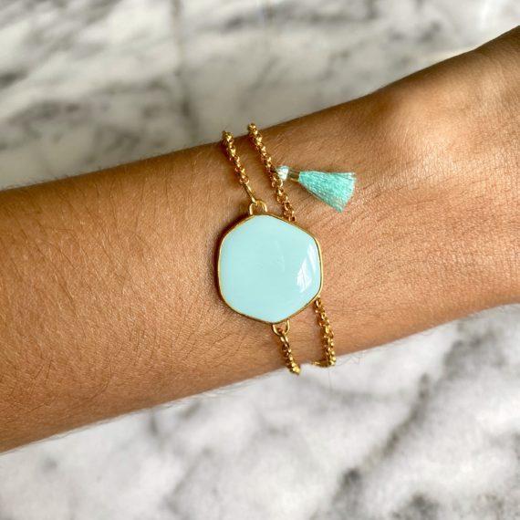 Double Chain Turquoise Bracelet