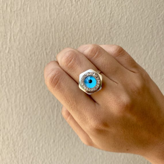 Hexagonal Eye Ring