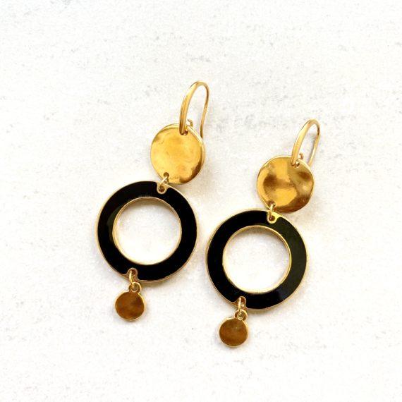 Olivia Earrings – Black