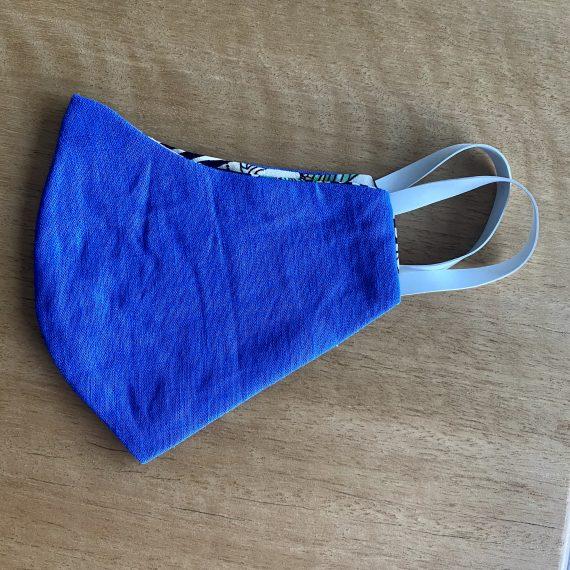 Blue Reversible Mask – Female (3 Layer)